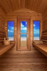 Massivholz Rote Zeder infrarot Sauna für Aussenbereich