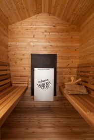 Massivholz Red Cedar (infrarot) Sauna für Aussenbereich